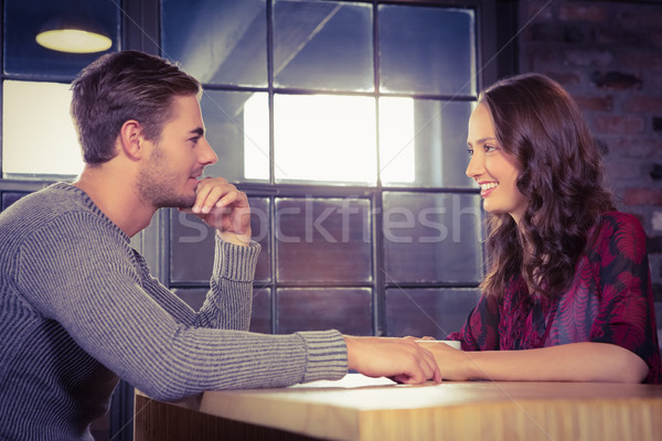 Smiling couple talking  Stock photo © wavebreak_media