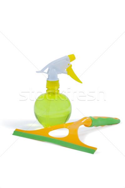 Detergente spray garrafa janela branco fitness Foto stock © wavebreak_media