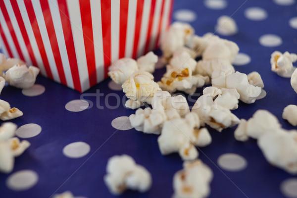 Popcorn czerwony tkaniny życia Zdjęcia stock © wavebreak_media