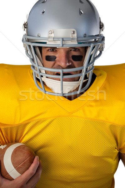 Portret vastbesloten amerikaanse voetballer helm Stockfoto © wavebreak_media
