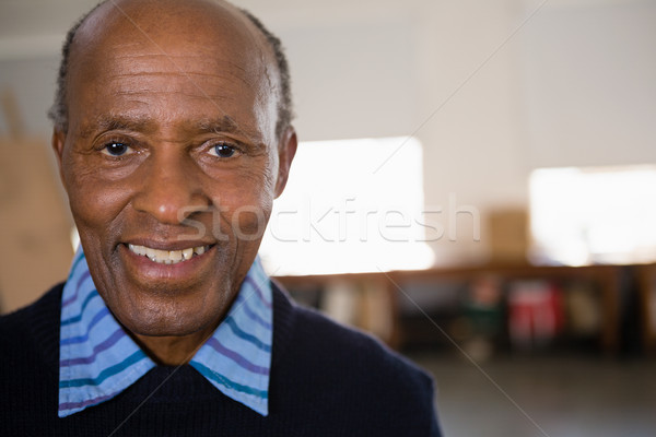 Close up portrait of happy senior man  Stock photo © wavebreak_media