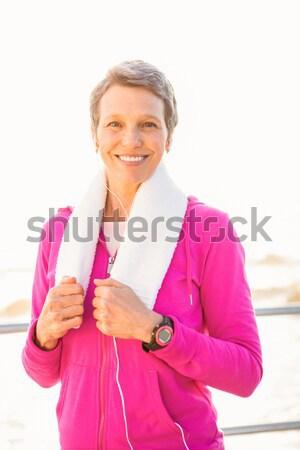 Gülen kadın portre mesire Stok fotoğraf © wavebreak_media
