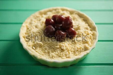 Directly above shot of olives on food in tart Stock photo © wavebreak_media