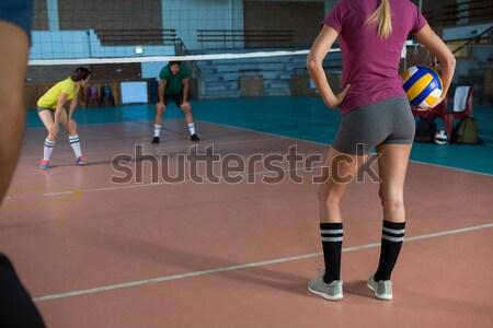 Volleybal spelers oefenen rechter man kind Stockfoto © wavebreak_media