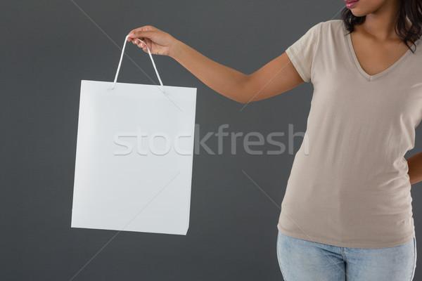 Kobieta torbę na zakupy szary baby Zdjęcia stock © wavebreak_media