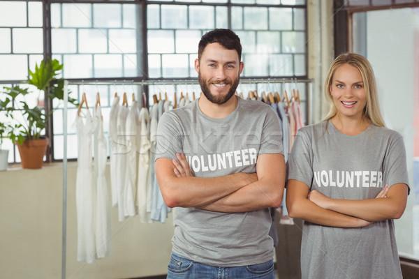 Portrait of smiling volunteers in office Stock photo © wavebreak_media