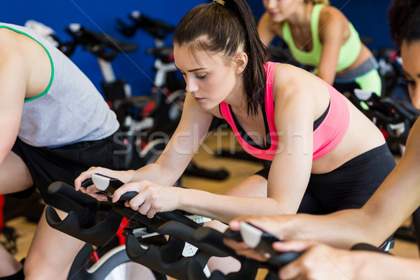 Fit people in a spin class Stock photo © wavebreak_media