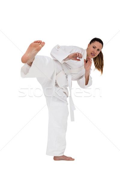 Lutador karatê posição branco fitness Foto stock © wavebreak_media