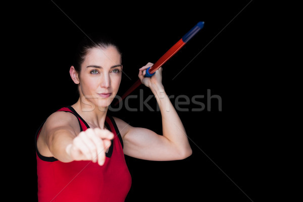 Female athlete throwing a javelin  Stock photo © wavebreak_media