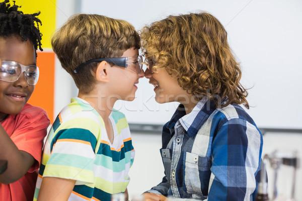 Kinderen neus klas school gelukkig onderwijs Stockfoto © wavebreak_media