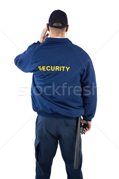 Segurança oficial escuta homem caderno Foto stock © wavebreak_media