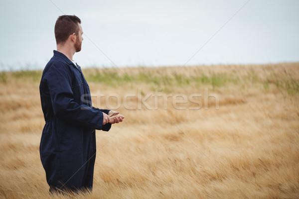 çiftçi ayakta alan bakıyor görmek Stok fotoğraf © wavebreak_media