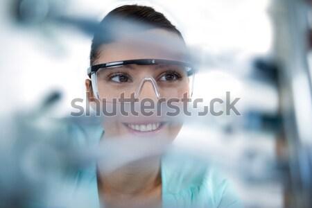 Feminino computador engenheiro placa-mãe branco Foto stock © wavebreak_media