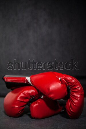 Pair of black and red boxing gloves Stock photo © wavebreak_media
