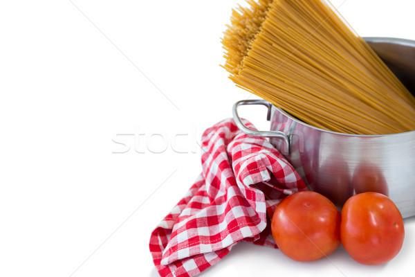 Alimentare ciotola tovagliolo bere rosso pasta Foto d'archivio © wavebreak_media