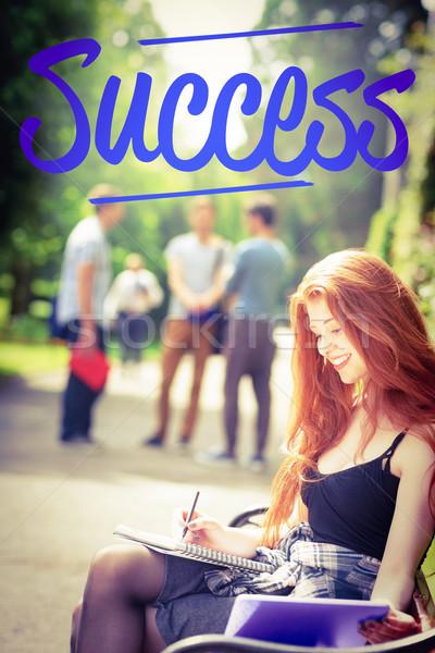 Başarı güzel öğrenci eğitim dışında kampus Stok fotoğraf © wavebreak_media