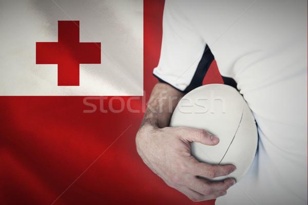 Obraz rugby gracz piłka Zdjęcia stock © wavebreak_media