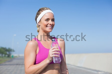 Mulheres mantra cachecol cidade mulher Foto stock © wavebreak_media