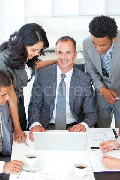 Business people discussing in office a plan Stock photo © wavebreak_media