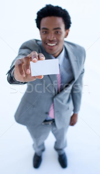 África empresario pequeña empresa tarjeta Foto stock © wavebreak_media