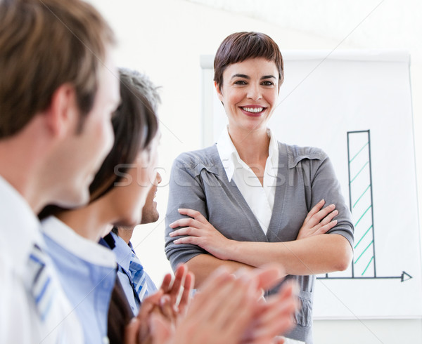 Cheerful business people applauding a good presentation  Stock photo © wavebreak_media
