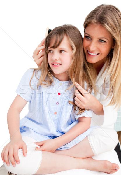 Encantador mulher cabelo branco menina criança Foto stock © wavebreak_media