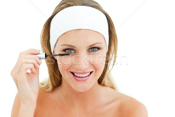 Mujer atractiva blanco mujer nina ojo Foto stock © wavebreak_media