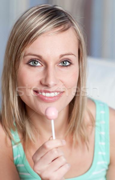 женщину леденец портрет продовольствие фон Сток-фото © wavebreak_media