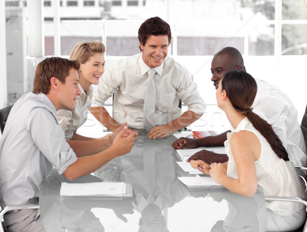 üzleti csoport dolgozik egyéb üzlet számítógép papír Stock fotó © wavebreak_media