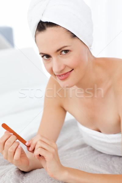 Compongono spazio bagno pelle femminile Foto d'archivio © wavebreak_media