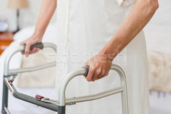 Senior woman with her zimmer frame Stock photo © wavebreak_media