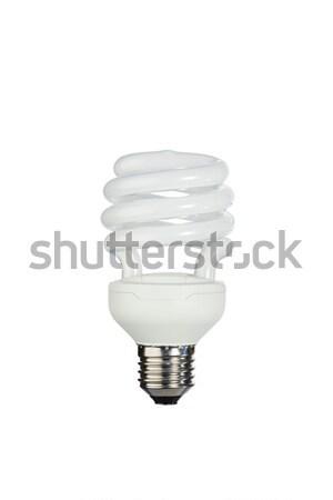 Fluorescent light bulb on a white background Stock photo © wavebreak_media