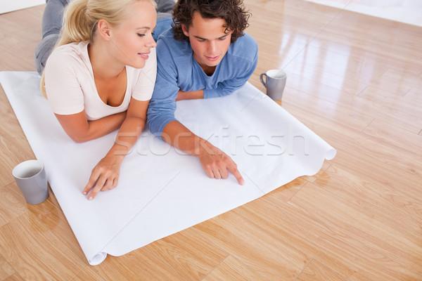 Zdjęcia stock: Patrząc · przyszłości · pokój · plan · piętrze