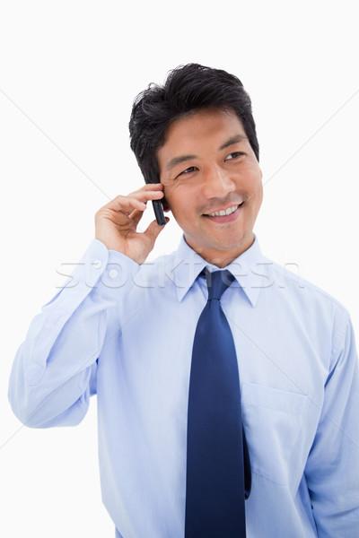 Portré üzletember készít telefonbeszélgetés fehér üzlet Stock fotó © wavebreak_media