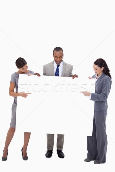 Geschäftsleute Hinweis schauen weiß Hintergrund Stock foto © wavebreak_media