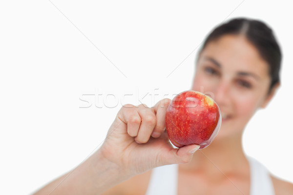 Appel brunette witte Rood Stockfoto © wavebreak_media