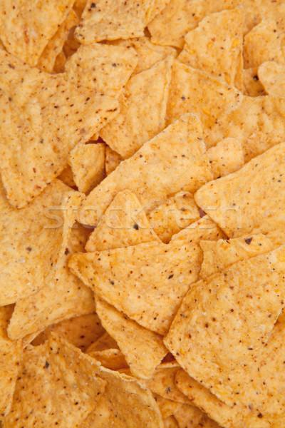 Driehoek chips samen Stockfoto © wavebreak_media