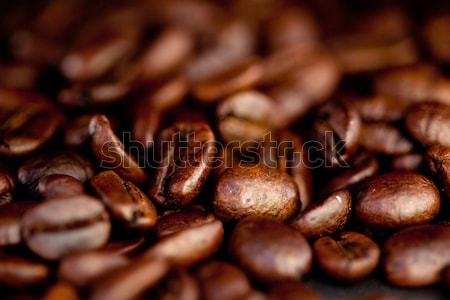 Sok sötét kávé magok ki együtt Stock fotó © wavebreak_media