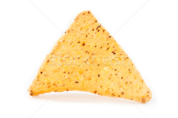 Single triangular crisps against white background Stock photo © wavebreak_media