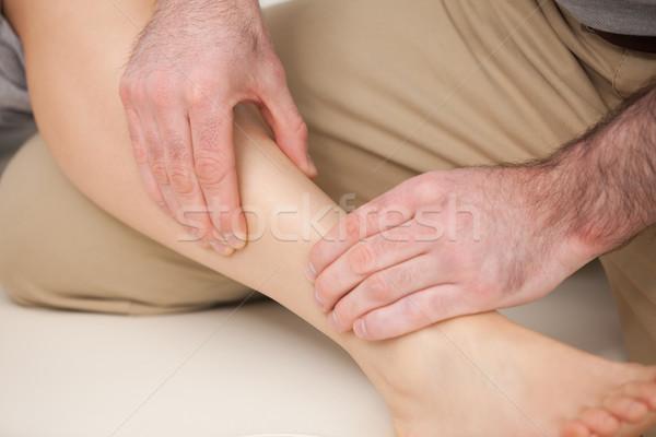 Scheenbeen bot binnenshuis medische spieren Stockfoto © wavebreak_media
