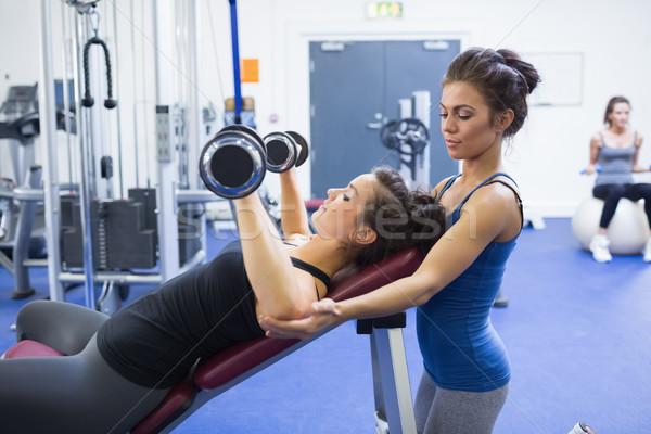 Kobieta wagi kobiet trener sportu Zdjęcia stock © wavebreak_media