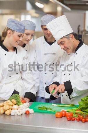 Apprentissage légumes cuisine fond hôtel Photo stock © wavebreak_media