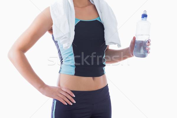 женщину полотенце вокруг шее фляга Сток-фото © wavebreak_media