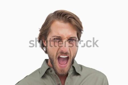 Hombre ira blanco masculina estilo Foto stock © wavebreak_media