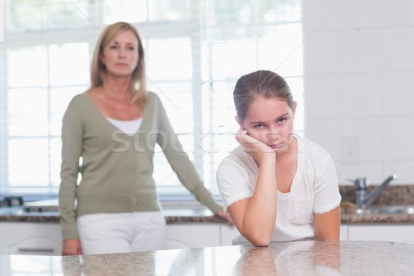девочку дуется аргумент матери домой Сток-фото © wavebreak_media
