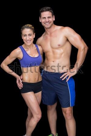 Immagine bodybuilding Coppia nero donna Foto d'archivio © wavebreak_media