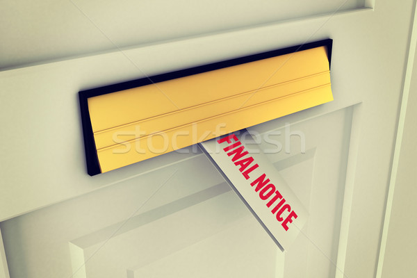 Final notice against letter through post box Stock photo © wavebreak_media