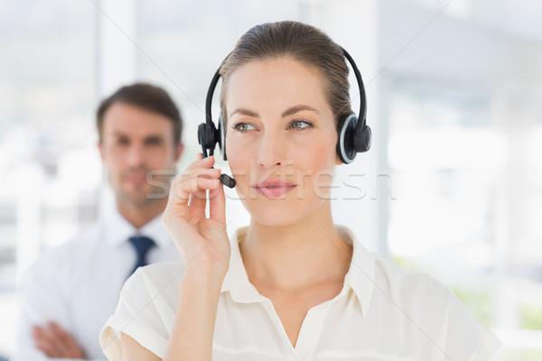 クローズアップ 美しい 女性 執行 ヘッド 明るい ストックフォト © wavebreak_media