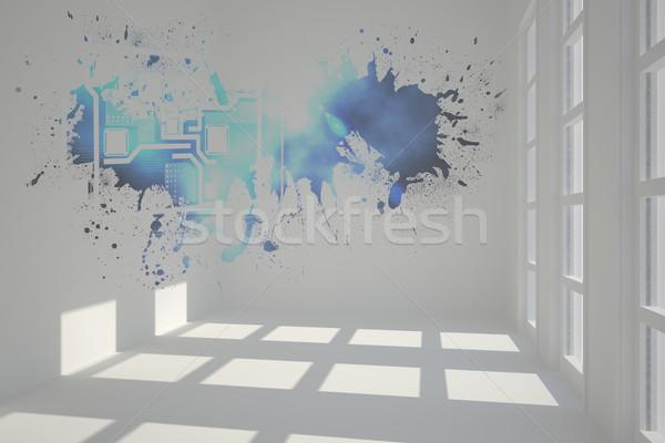 スプラッシュ 技術 インターフェース 未来的な ルーム ストックフォト © wavebreak_media