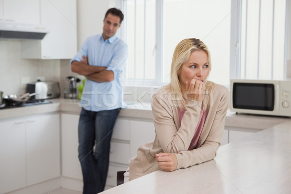 Couple not talking after an argument in kitchen Stock photo © wavebreak_media